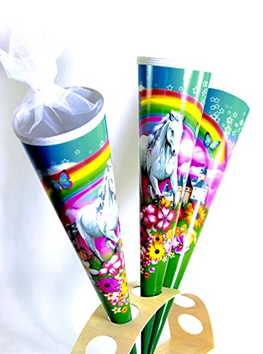 KidsCone White Horse with Rainbow (Round) Schultüte Zuckertüte 27