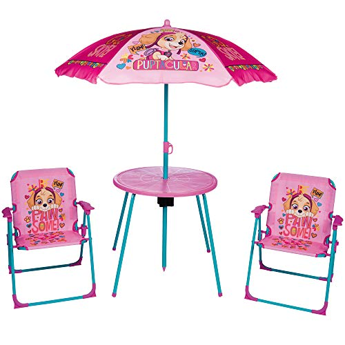 URBN Toys Garten- und Picknick-Set für Kinder, Sonnenschirm, Tisch und 2 Stühle