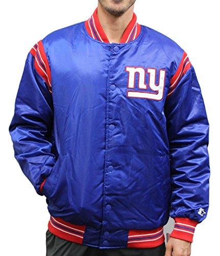 Starter New York Giants NFL Men's The Enforcer Premium Satin Jacket