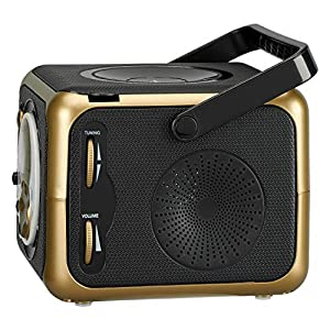 Portable Bluetooth Music System with CD Player +CD-R/RW & FM Radio with Aux-in & Headphone Jack Line-In …