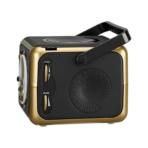 Portable Bluetooth Music System with CD Player +CD-R/RW & FM Radio with Aux-in & Headphone Jack Line-In … 4