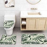 ZGDPBYF 浴室用アップホームバスマット熱帯植物の葉緑の葉プリントバスマットシャワーフロア用カーペットバスタブマット