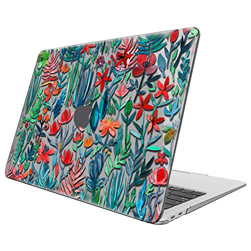 FINTIE Case for MacBook Air 13 Inch (2020 & 2019 & 2018 Release) A2179 / A1932 - Protective Snap On Hard Shell Cover for New MacBook Air 13 Retina Display with Touch ID, Jungle Night