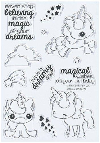 Pink & Main PM0180 N/A Clear Stamps 4'X6'-Magical Unicorns