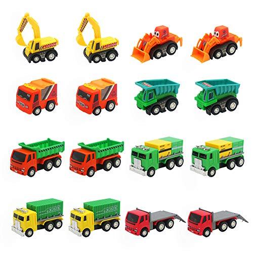 Nuheby Set Macchinine Per Bambini Giochi Camion Camion Bisarca Giocattolo Set 16 Veicoli