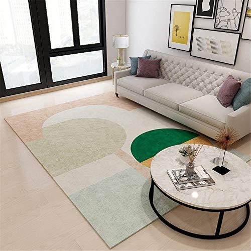 Alfombra Terraza Alfombras De Dormitorio Matrimonio Alfombra de la alfombra de la alfombra de la alfombra de los niños verde alfombra geométrica patrón de estar dormitorio dormitorio duradero