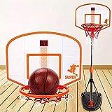 Aro de baloncesto ajustable para niños, juego de baloncesto para interiores y exteriores, centro de actividades deportivas, mejor regalo para niños