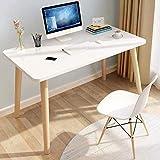 HEMFV Escritorio ergonómico para computadora Escritorio de la computadora, el estudio teórico simple moderna del escritorio de oficina PC portátil de escritorio de escritorio de la Oficina casa, la cl