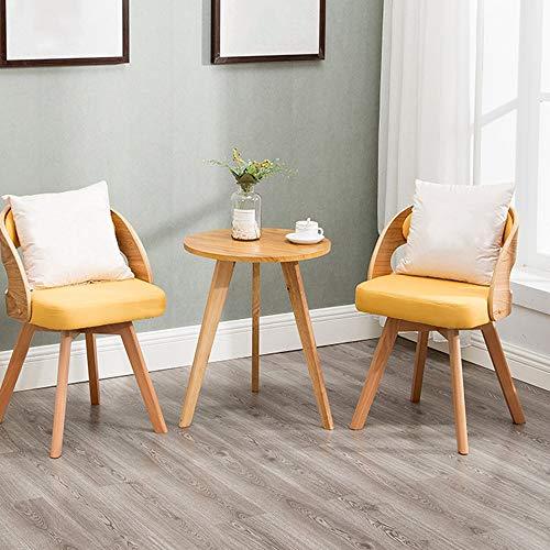JU FU Tisch- und Stuhlkombination, Holz dreiteilig minimalistischer Couchtisch Kombination Hof Balkon Freizeit Tisch und Stuhl Kombination, 8 Farben erhältlich (Color : D, Size : 50x60cm)