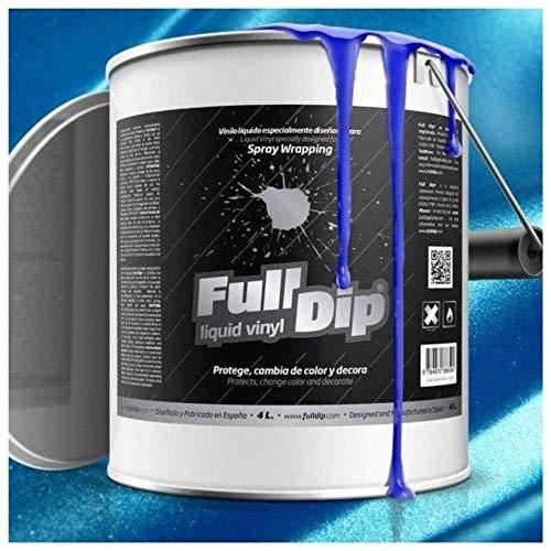 AutoFullCar - Full Dip Azul Metalizado Bote 4 litros Vinilo LÍQUIDO FULLDIP Listo para Pintar