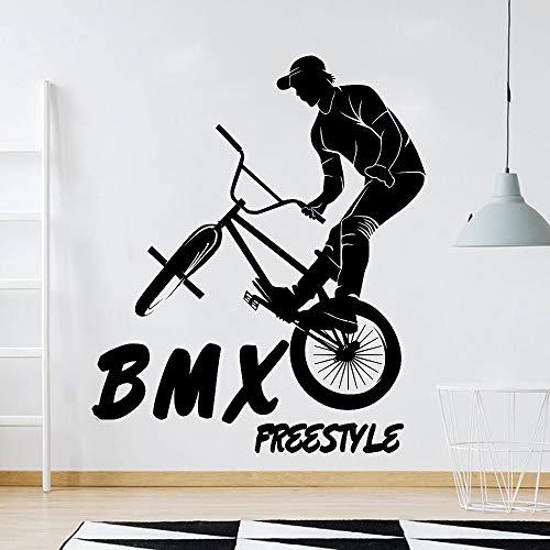 Moda BMX Freestyle Mountain Bike Bicicleta Deportes extremos Etiqueta de la pared Calcomanía de vinilo Niño Niños Fans Dormitorio Sala de estar Club Studio Decoración para el hogar Mural