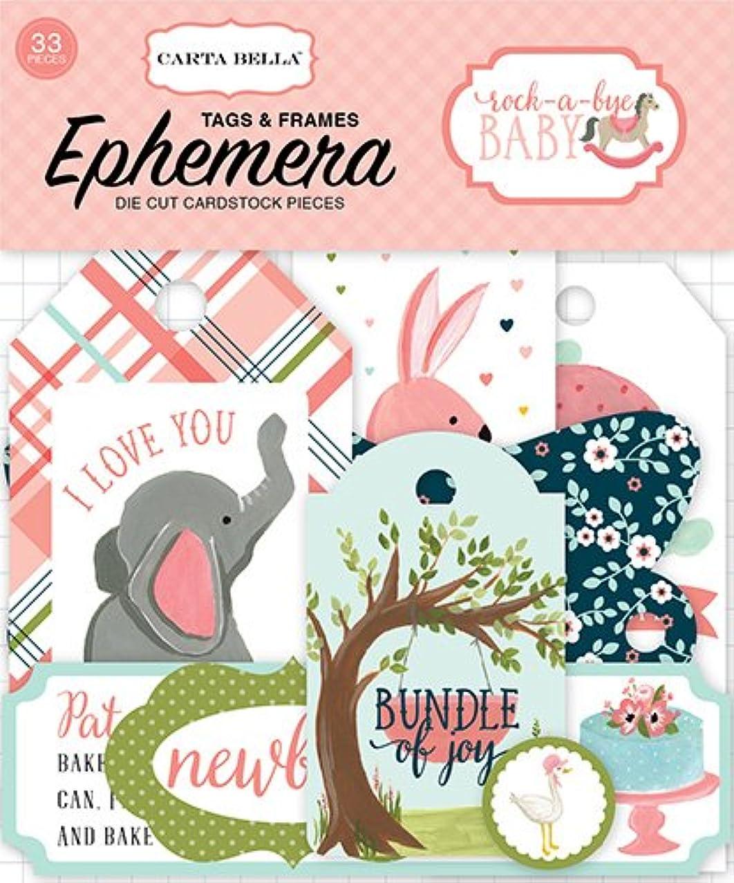 Carta Bella Paper Company Rock-A-Bye Girl Frames & Tags Ephemera