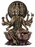 Top Collection Gayatri MATA Statue- Hindu Goddess of Untiring Pursuit of Knowledge and Wisdom Sculpture in Premium Cold Cast Bronze - 10.25-Inch Collectible Figurine
