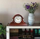 SHJMANPA Reloj de mesa de madera maciza decorativo con pilas