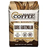 Fresh Roasted Coffee LLC, Dark Guatemalan Huehuetenango Coffee, Dark Roast, Whole Bean, 2 Pound Bag