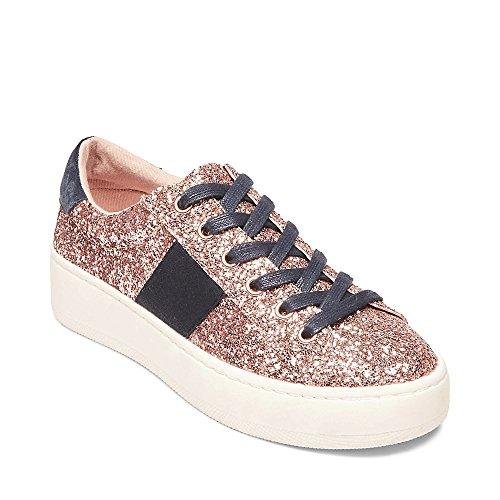 Steve Madden Women's Belle-G Sneaker, Blush GLIT 6.5