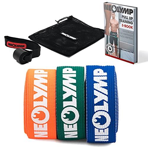 NEOLYMP fasce elastiche fitness | elastico fitness fasce per sport professionali + ebook con oltre 100 esercizi | resistance band | elastici pilates