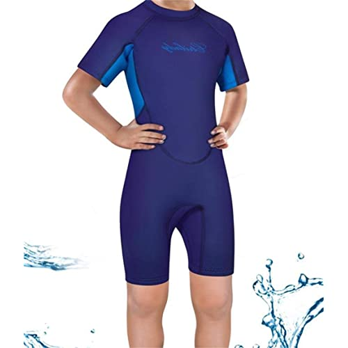 0afb28612d CtriLady Kids Neoprene Shorty Wetsuit Short Sleeve Swimsuit Thermal Back Zip  Spring Suit Snorkeling Surfing Swimming