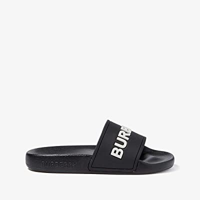 Burberry Kids Mini Furley Sandal (Toddler/Little Kid) (Black/Optic White) Kid