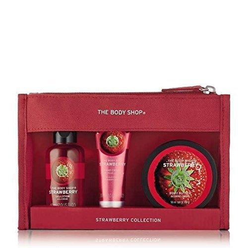 Les Sacs Body Shop fête Beauté - Thé Vert Fuji-Moringa-Fraise-Mangue-Shea-Noix de coco-Rose Britannique/The Body Shop Festive Beauty Bags - Argan Oil-Strawberry-Mango-Shea-Coconut-Fuji Green Tea-British Rose-Moringa