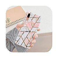 Arbbg Huawei P40 P30 P20 Mate 30 20 ProLite耐衝撃ソフトIMD裏表紙ギフト用電気プレート幾何学的大理石電話ケース-h-For Huawei P20 Pro