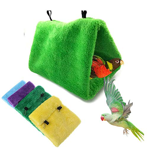 Warm Bird Nest House Hammock Bed Toy for Pet Budgie Parakeet Cockatiel Conure Amazon Lovebird Finch Canary Small Medium Parrot Hamster Rat Chinchilla Cage Stand Perch