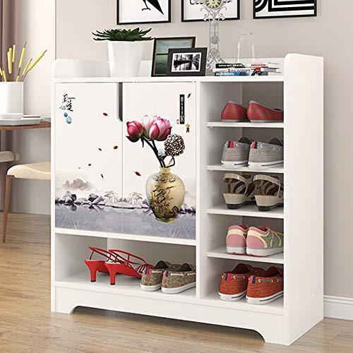 Zapato Simple Armario de Entrada de Simplicidad Europea Zapatero multifunción Armarios de Sala de Estar Caja de Almacenamiento de Pasillo (Color: K)