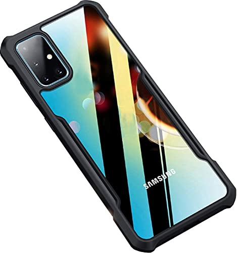 Amozo Samsung M51 Back Cover Case Shockproof Transparent Bumper 360 Degree Camera Protection Case Cover For Samsung Galaxy M51