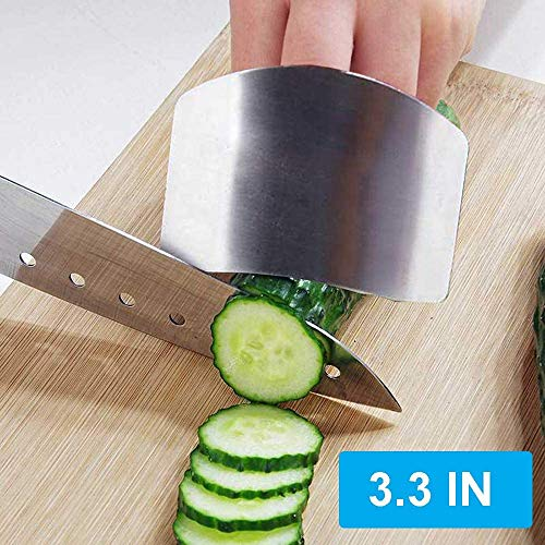 Finger Guard for Cutting Stainless Steel Slicing Protector Adjustable Finger Guards Hand Protectors When Chopping Cutting Dicing Vegetables Meat Food Kitchen Tools