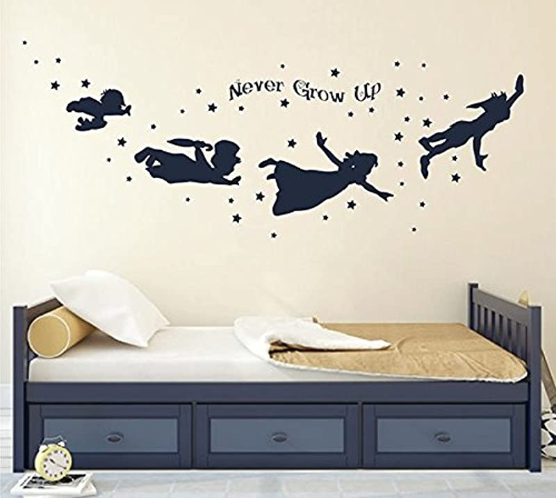 Ik2804 Wall Decal Sticker Peter Pan Fairy Tale Of Big Ben Room Children S Bedroom