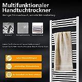 SONNI Handtuchheizkörper Handtuchtrockner Heizkörper Bad Mittelanschluss Handtuchwärmer Badheizkörper Weiß Gerade 40 * 120cm - 5