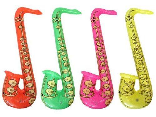 Hen and Stag Accessories Lot De 4 Saxophones Gonflables