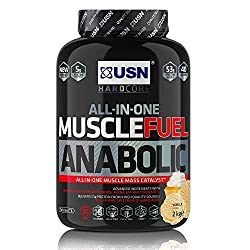 All in one muscle-building shake: USN Muscle Fuel Anabolic protein shake is an all-in-one mass gainer protein powder, with 55g of pure protein per serving. Try our range of delicious flavours, including Strawberry,Vanilla and Chocolate protein powder...