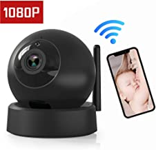 FHDCAM Wireless IP Camera Dome Camera, 1080P Home Camera, Indoor Security Surveillance System Remote Monitoring with Two-Way Audio and Night Vision for Baby/Elder/Pet/Nanny Monitor, Pan/Tilt with iOS