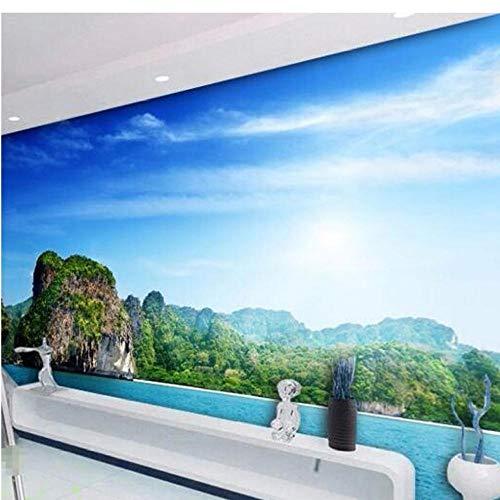 Wuyii wandbehang, personaliseerbaar, Europese stijl, 3D-kaars, Romeinse besturing, meubels, muurschildering, woonkamer, tv-achtergrond, behang 200 x 140 cm