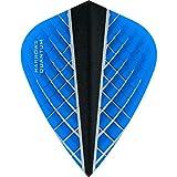 Harrows Quantum X Dart-Flights, 100 Mikron, Drache, 3D-Effekt, 5 Sets (15 Stück) (Aqua Blue)