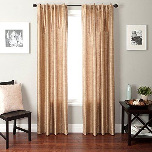Softline Home Fashions Bergamo Kunstseide Rückentasche Fenster Panel/Vorhang, durchsichtig Modern 55