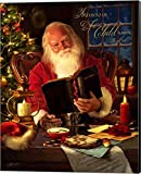 Santa by Jason Bullard Canvas Art Wall Picture, Museum Wrapped with Black Sides, 16 x 20 inches