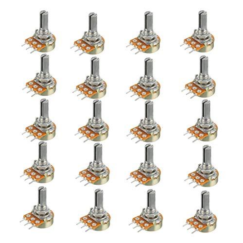 HiLetgo 20pcs WH148 Single-Joint Potentiometer 100K B100K Variable Resistors 15mm Shaft 3Pins 100K Ohm Potentiometer