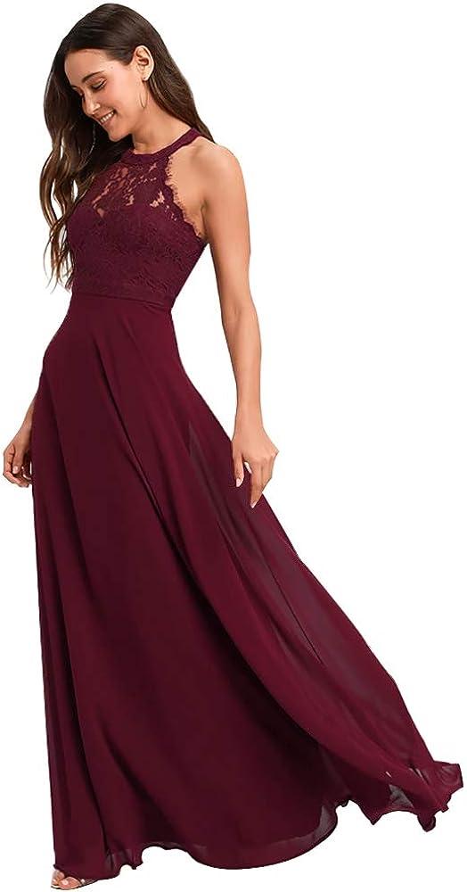 WaterDress Max 66% OFF Lace Bridesmaid Dresses Formal Chiffon Long Mesa Mall f