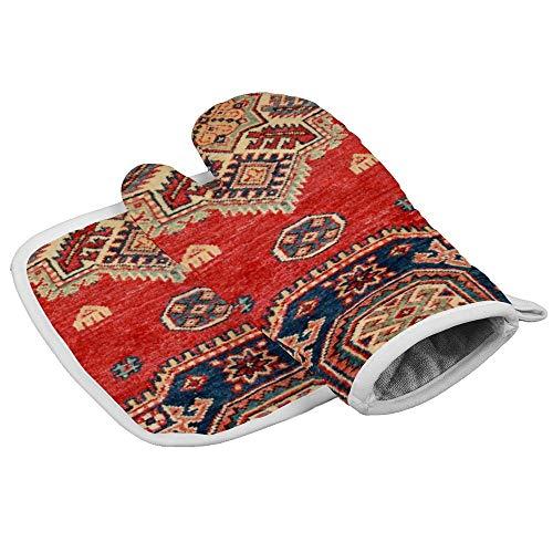 Naturgefärbter, handgefertigter Anatolien-Teppich, professionell, hitzebeständig, für Mikrowelle, Grill, Ofen, Isolierung, Verdickung, Baumwolle, Backhandschuhe, weiches Innenfutter