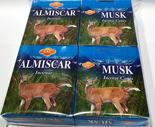 SAC Incienso Musk - 4 Cajas x 10 Conos -