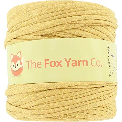 T-Shirt Yarn Cotton Fettuccini Zpagetti - Sewing Knitting Crochet T Shirt Yarn - 100 Meter - (Mustard)