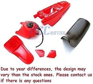 4L PS37 YAMAHA PW50 PW 50 PLASTIC SEAT GAS TANK KIT - Red