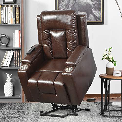 belupai Elektrischer Fernsehsessel Aufstehsessel Relaxsessel Sessel mit Aufstehhilfe Braun