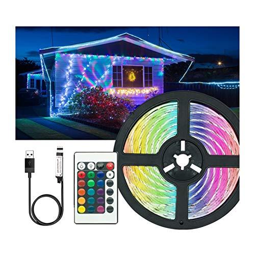 CUzzhtzy Luces de tiras LED alimentadas por USB, con control remoto impermeable RGB RGB 5050 Cambio de color LED Light Bar Barra de retroiluminación, usado for decoración del hogar, TV, iluminación de