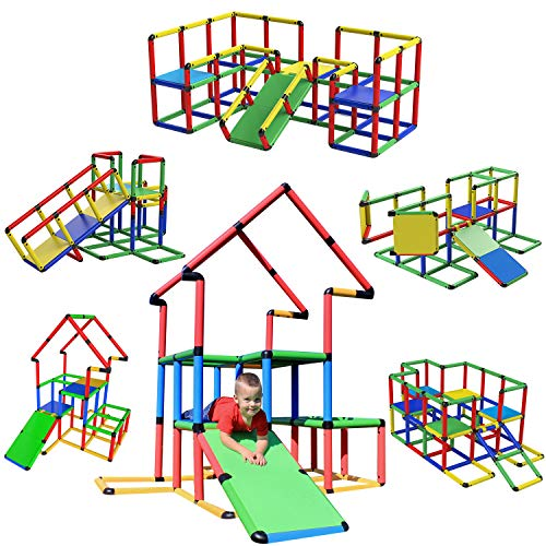 Funphix Jumbo 467Piece Construction Toy Set - Building Play-Structures for Indoors & Outdoors - Fun & Educational Learning Toys for Ages 2 to 12
