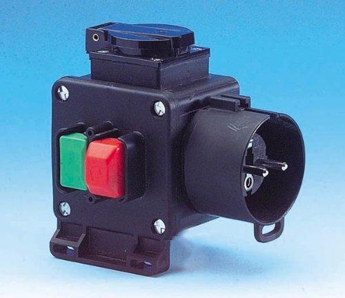 Tripus Sicherheitsschalter Nullspannungsschalter Mit Ein-Aus-Taste - Anschlussfertig und Leicht zu Montieren