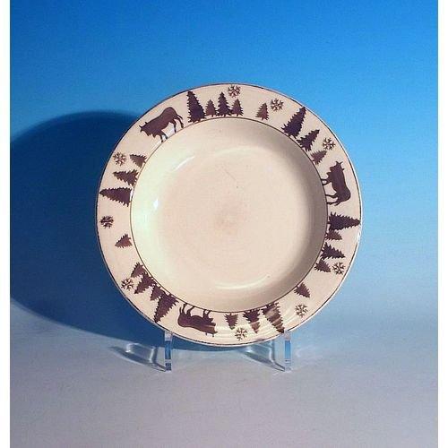 TABLE&COOK Assiette creuse 'vache gris taupe' (lot de 6) - F360900328D0206