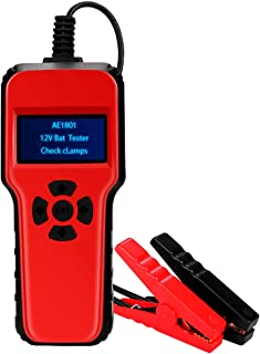 welltop Batterietester Professional 6 18V 100 1700 CCA 200AH Automotive Batterie Belastungstest Testgerät Digital Analyzer Batteriezustand Test Tool für Auto/Boot/Motorrad und Mehr